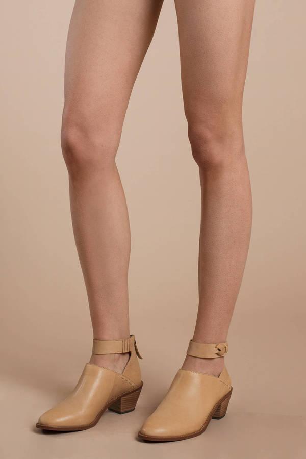 Kelsi Dagger Kadeeja Tan Ankle Strap Booties by Tobi