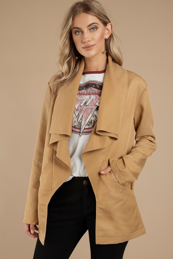 draped m listing jackets new drapes free people raw jacket femme linen coats
