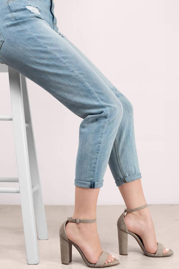 e13698bbdcb Steve Madden Beige Heels - Open Toe Heels - Ankle Strap Heels - C ...