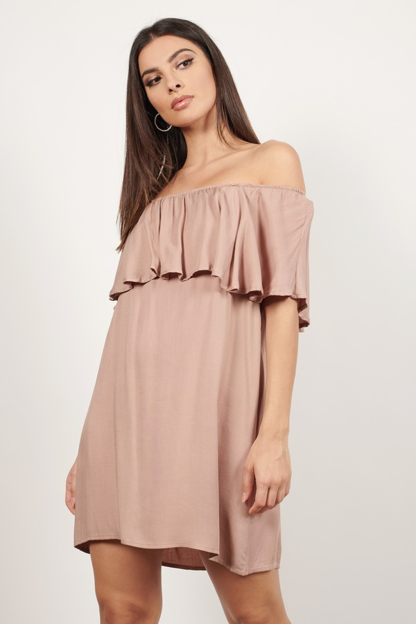 Off the Shoulder Boho Dress