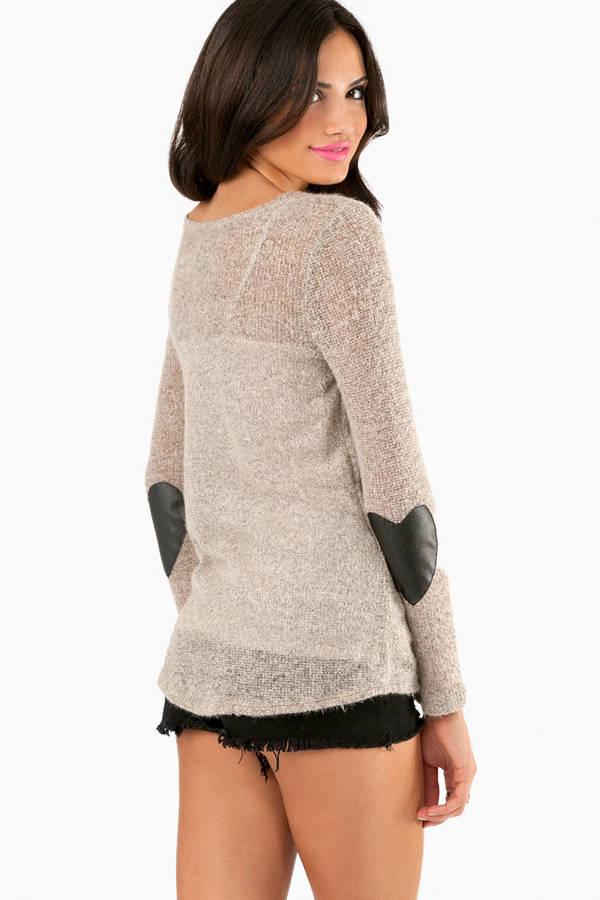 Heart and Patch Sweater