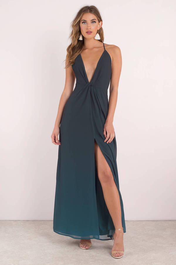 Sexy Blue Maxi Dress Dip Dye Maxi Dress Blue Gown 51 Tobi Us