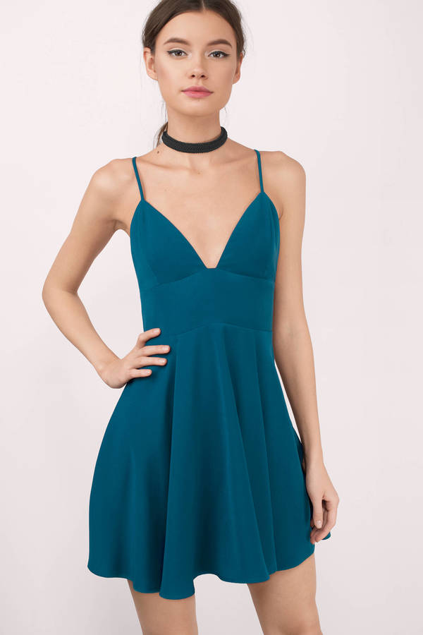 Black Skater Dress - Black Dress - Pleated Dress - $52.00