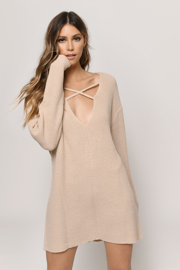 Dare To Bare Toast Don T Let Me Down Sweater Dress