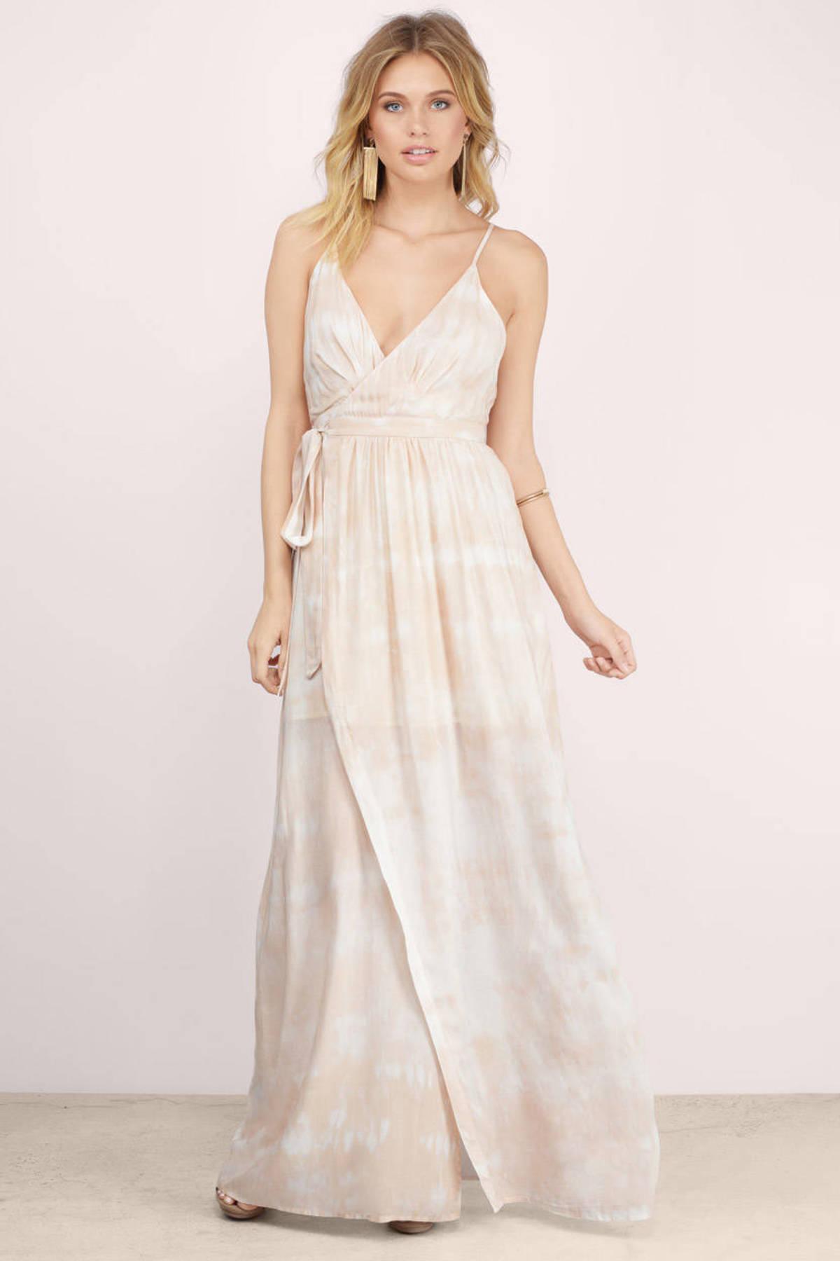 Long tie dye maxi dresses