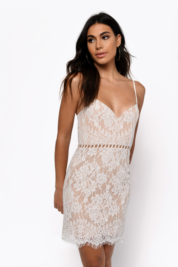 After Dark White Lace Bodycon Dress - AU$ 60 | Tobi AU