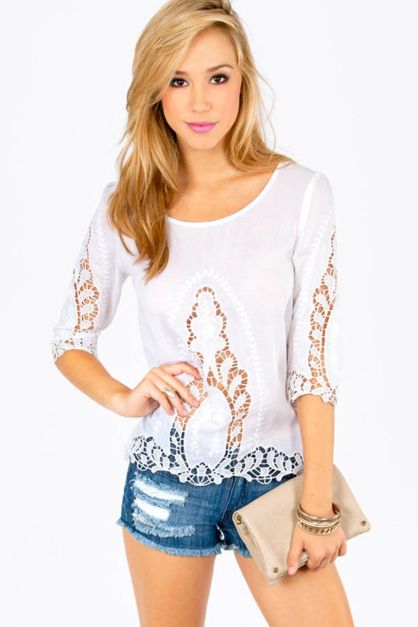 Carly Crochet Top