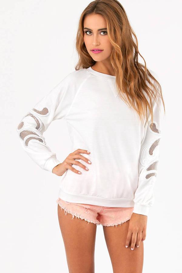 Crystal Cutout Sweater
