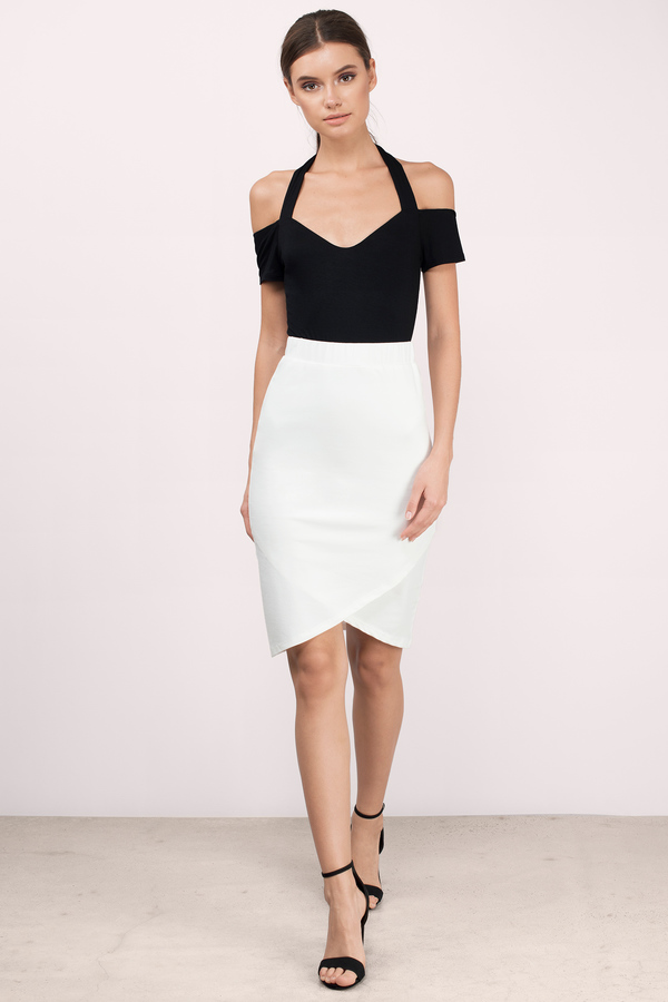 Midi Skirts | Black Midi Skirt, White Midi Skirt | Tobi