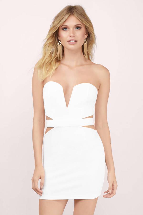 Strapless Dresses - White Strapless Dress- Black Strapless Dress ...
