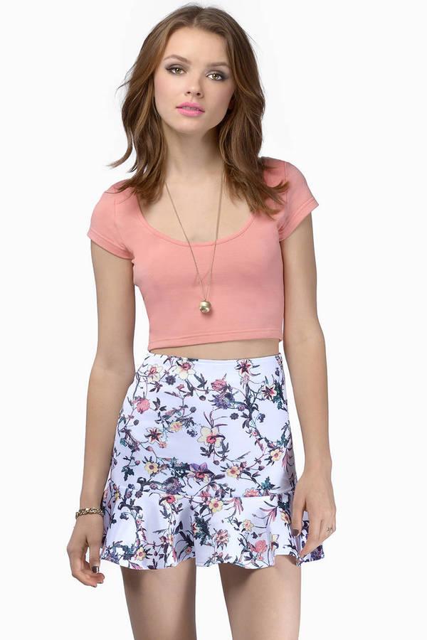 Twisted Vine Ruffled Skirt