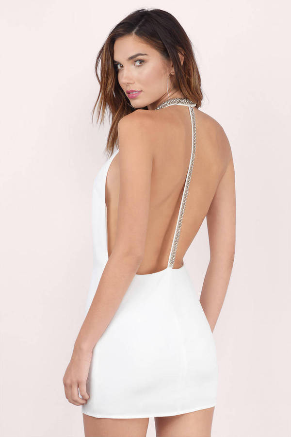 Cheap White Shift Dress - Backless Dress - $20.00