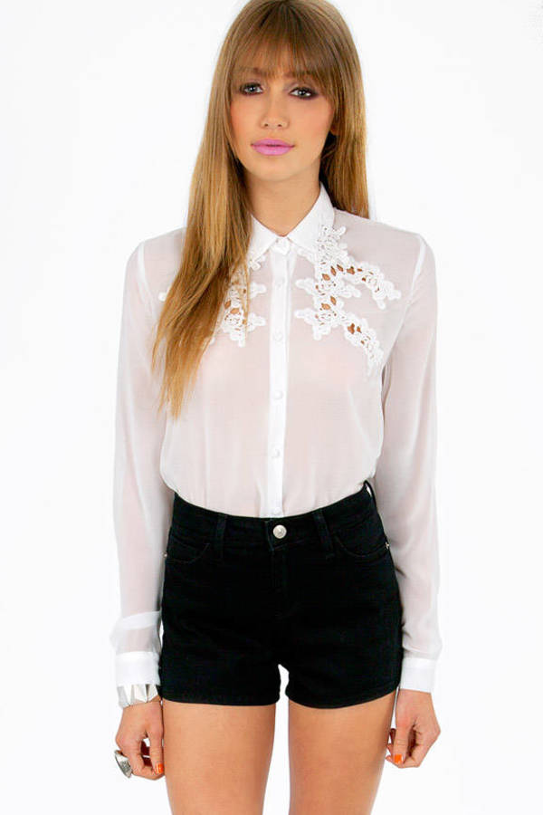 Linda Embroidery Sheer Top