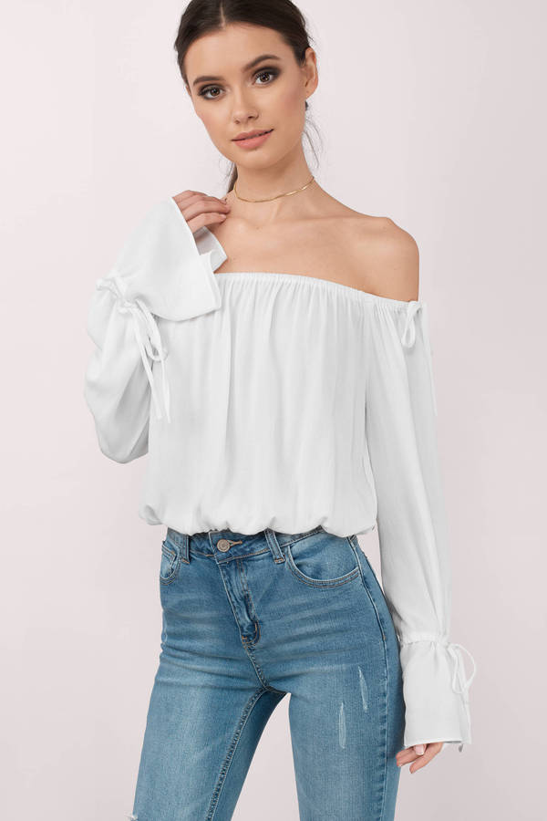 ladylike off-shoulder