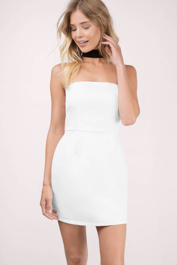 Cheap Black Bodycon Dress - Strapless Dress - $10.00