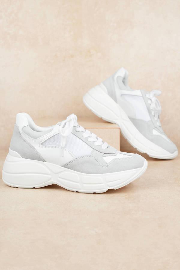 White Steve Madden Sneakers - Chunky