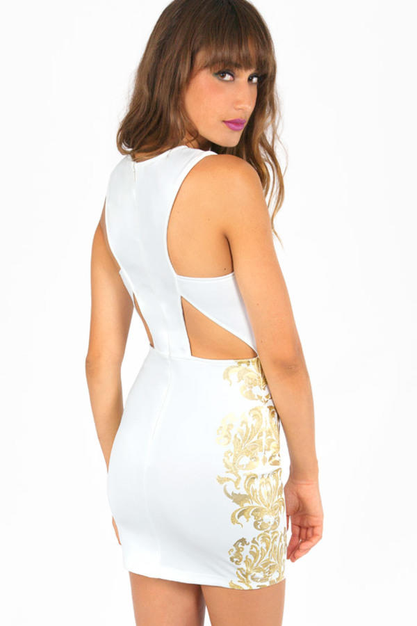 New Leaf Bodycon Dress