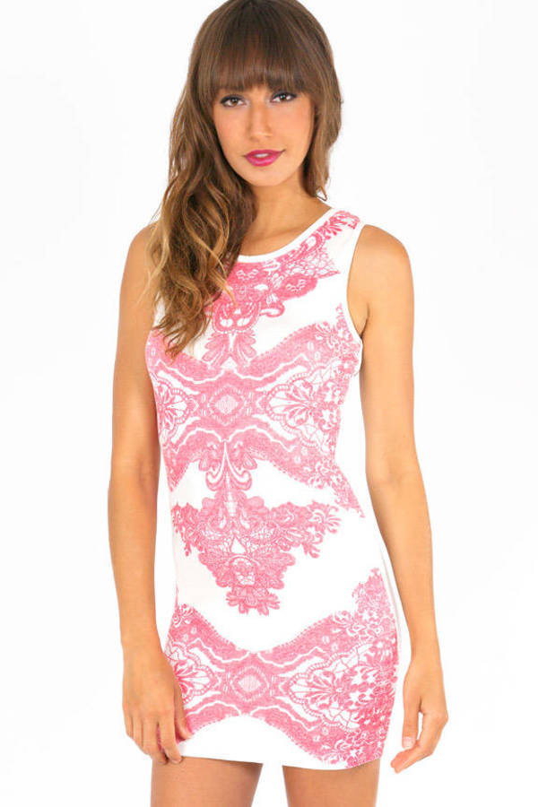 Ella Printed Bodycon Dress