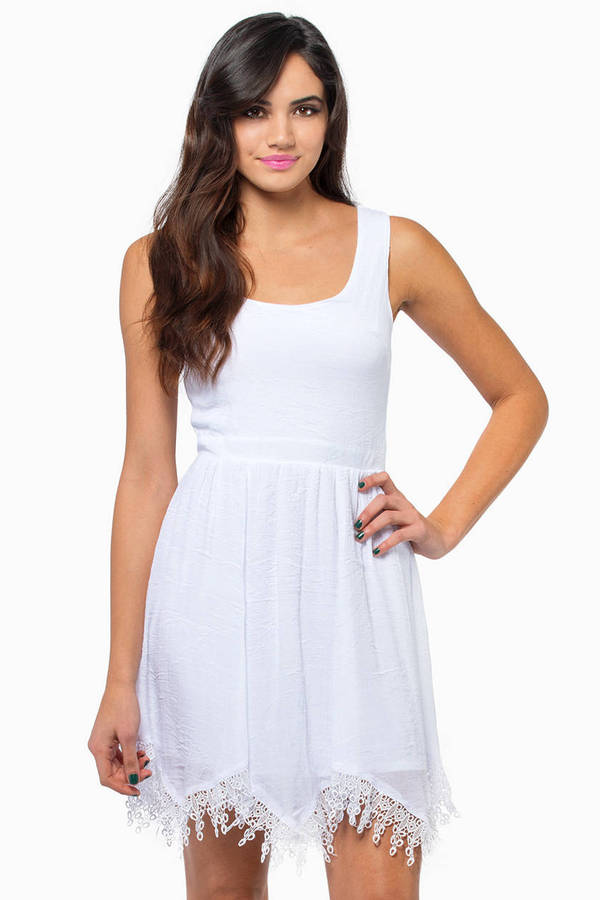 Rona Lace Trim Dress
