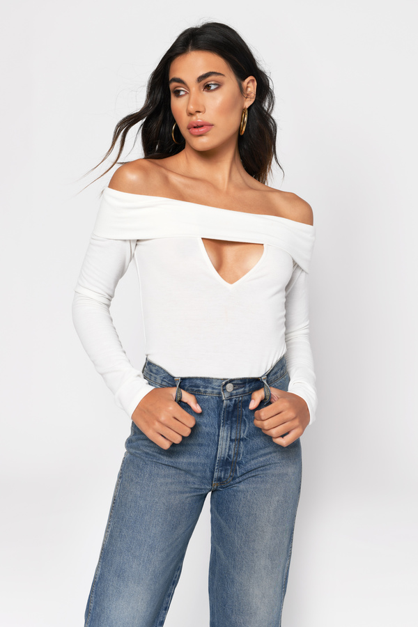Off The Shoulder Tops Off Shoulder Shirts Sweaters Blouses Tobi