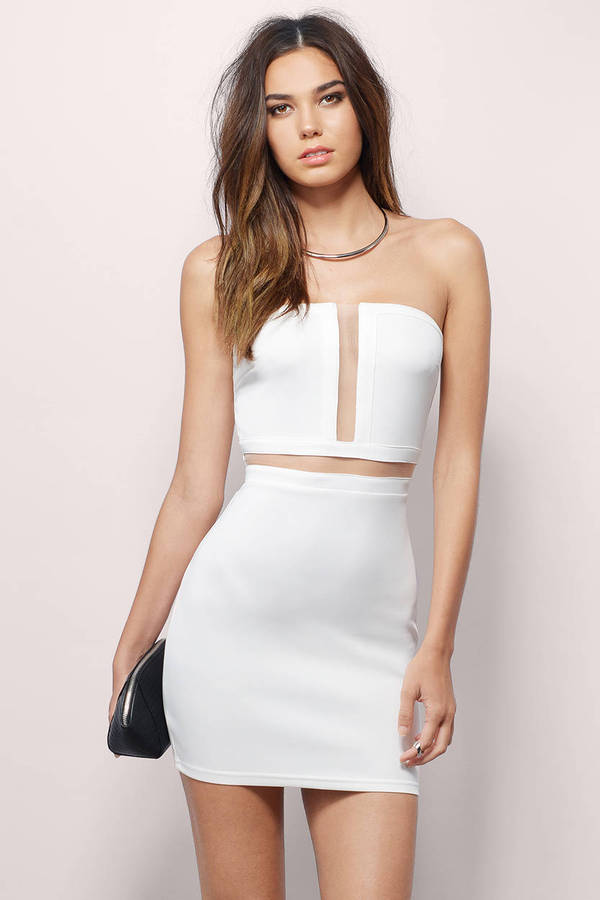 See You Soon White Bodycon Dress