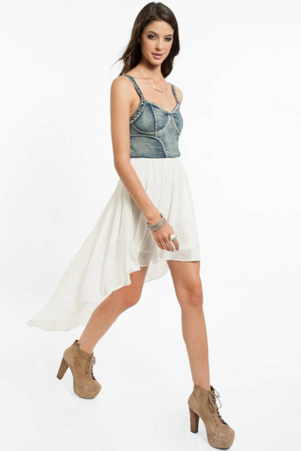 Selena Bustier Denim Dress