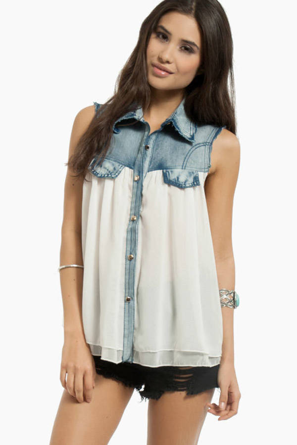 Southern Belle Denim Top