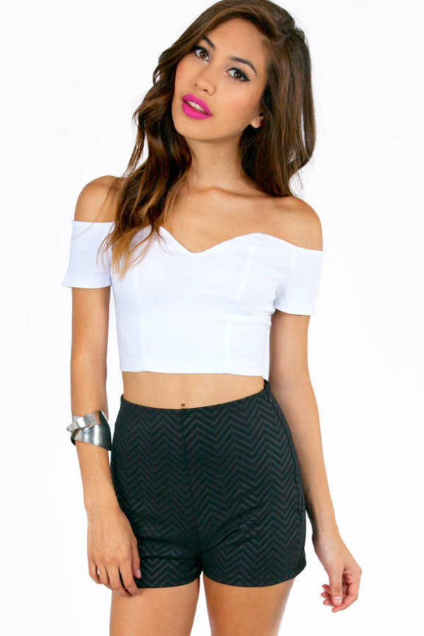 Sweetie Off Shoulder Crop Top