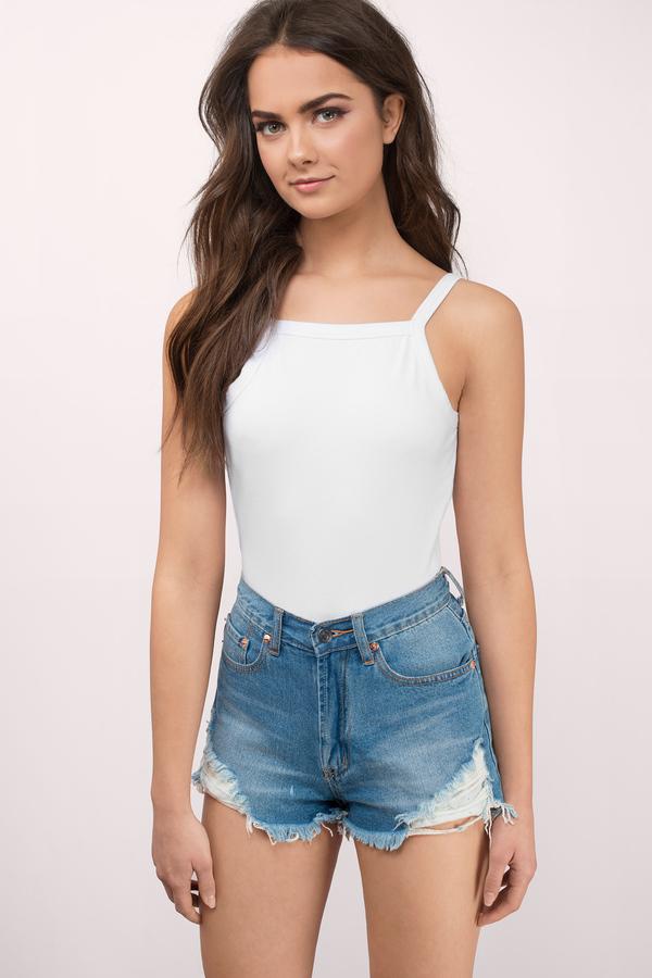 Cute White Bodysuit - Backless Bodysuit - White Bodysuit - € 8  a894b4b4c