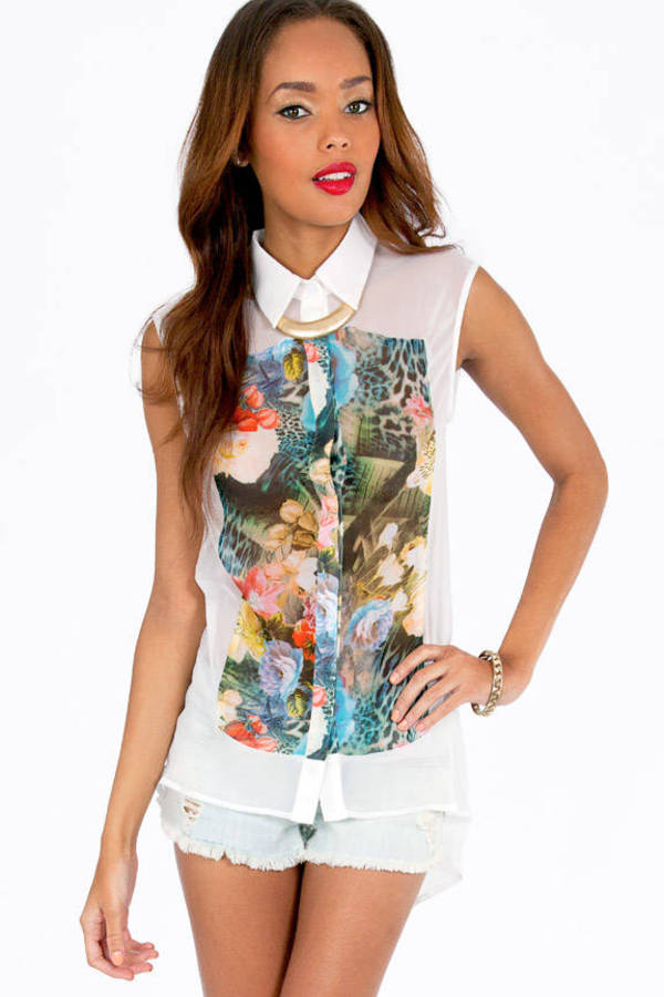The Forest Flora Blouse