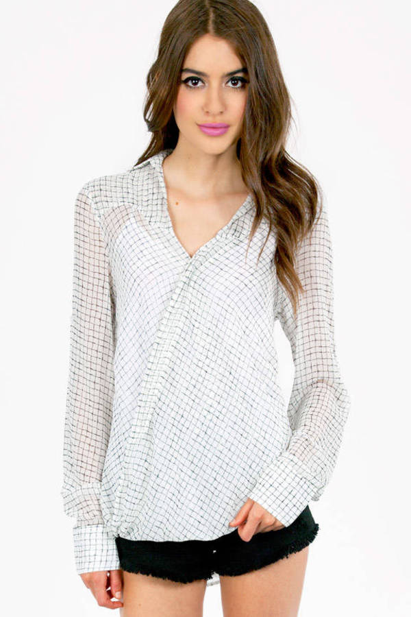 Urban Box Print Blouse