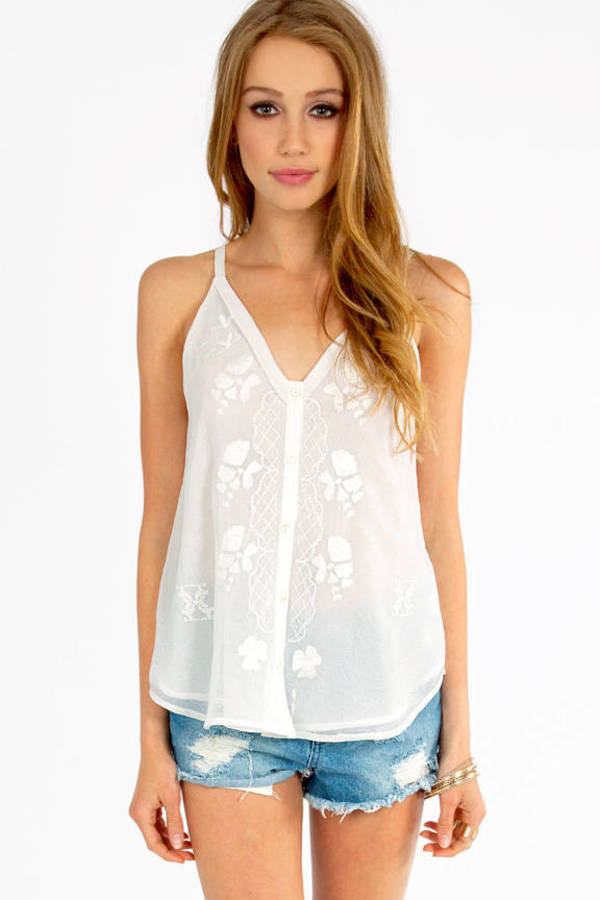 White Shore Tank Top