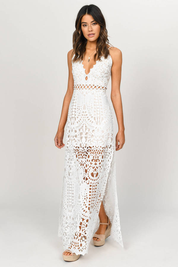 Wild Child White Lace Maxi Dress 48 Tobi Us