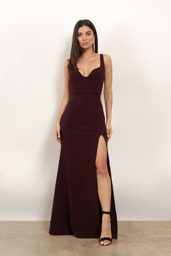 Dresses Wine Ever Mine High Maxi Dress