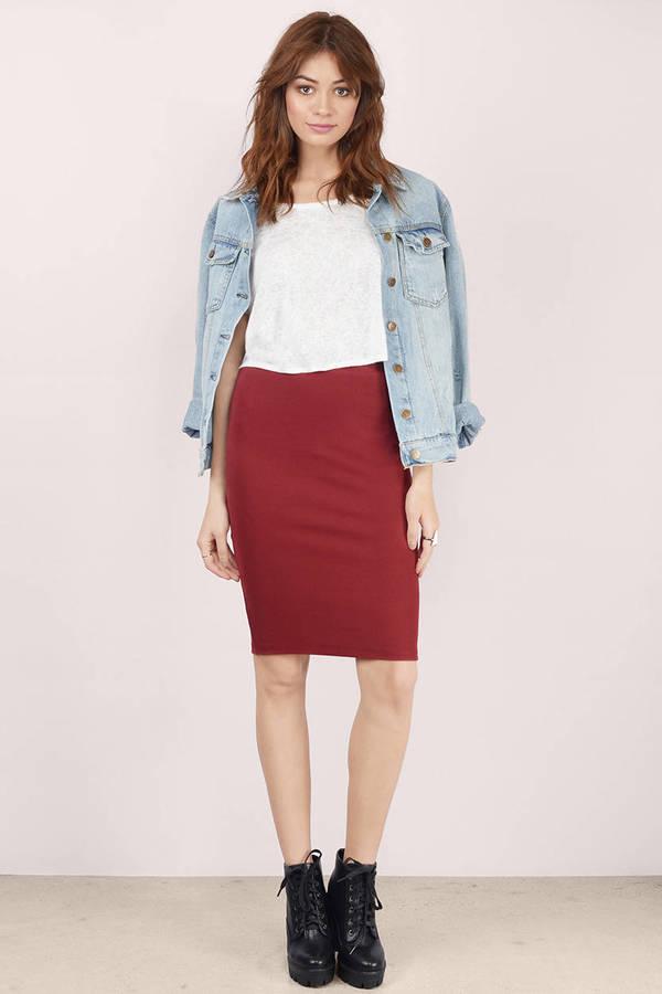 Midi Skirts | Black Midi Skirt, White Midi Skirt | Tobi