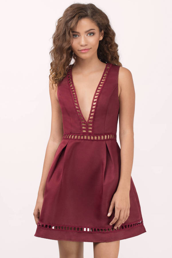 Maroon Dresses | Burgundy Dresses, Wine Colored Dresses| Tobi