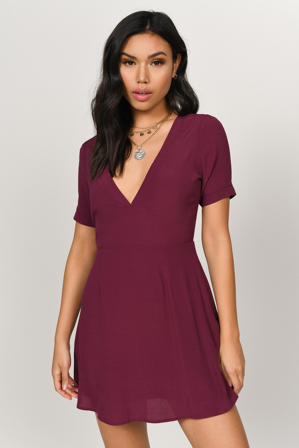 Wedding Guest Dresses Wine Kristi Aline Dress