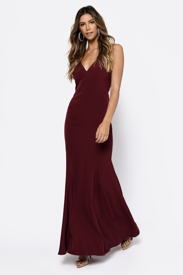 Red Bridesmaid Dresses | Long Burgundy Dresses, Wine Colored | Tobi