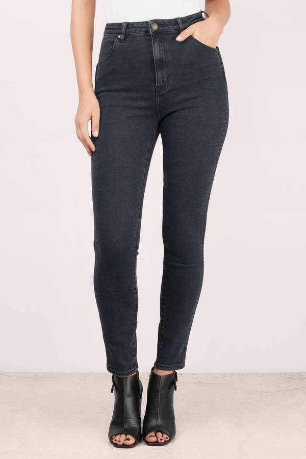 High Waisted Jeans | Black High Waisted Skinny Jeans | Tobi
