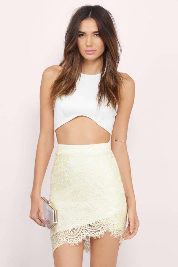 trendy yellow skirt yellow skirt lace skirt yellow