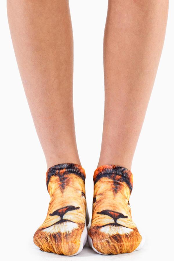 Lion Ankle Socks