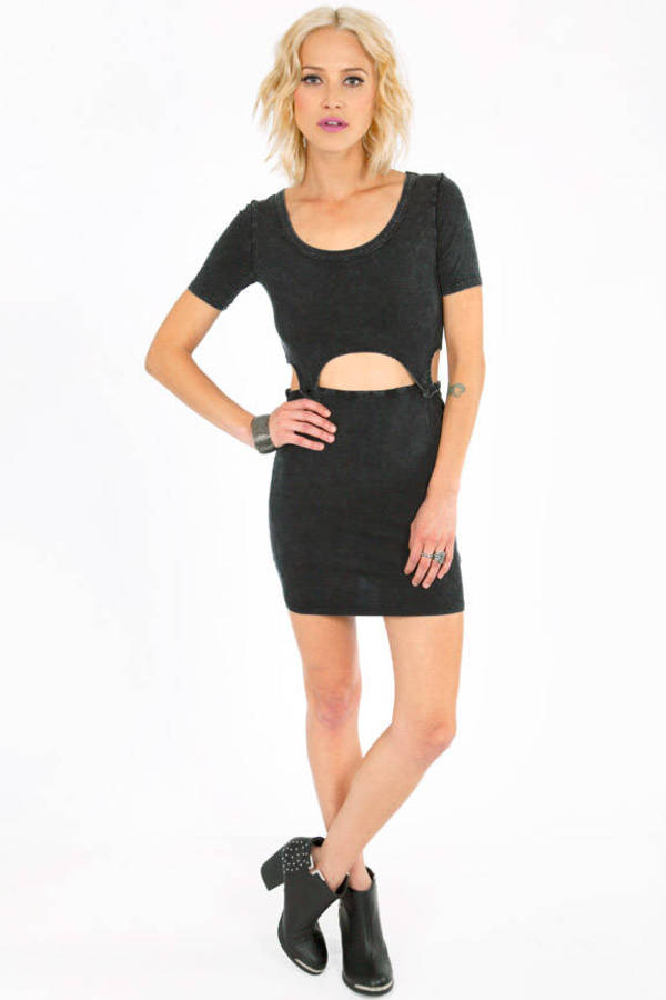 Button Mini Dress