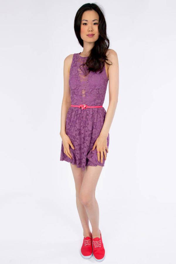 Shelly Lace Skater Dress