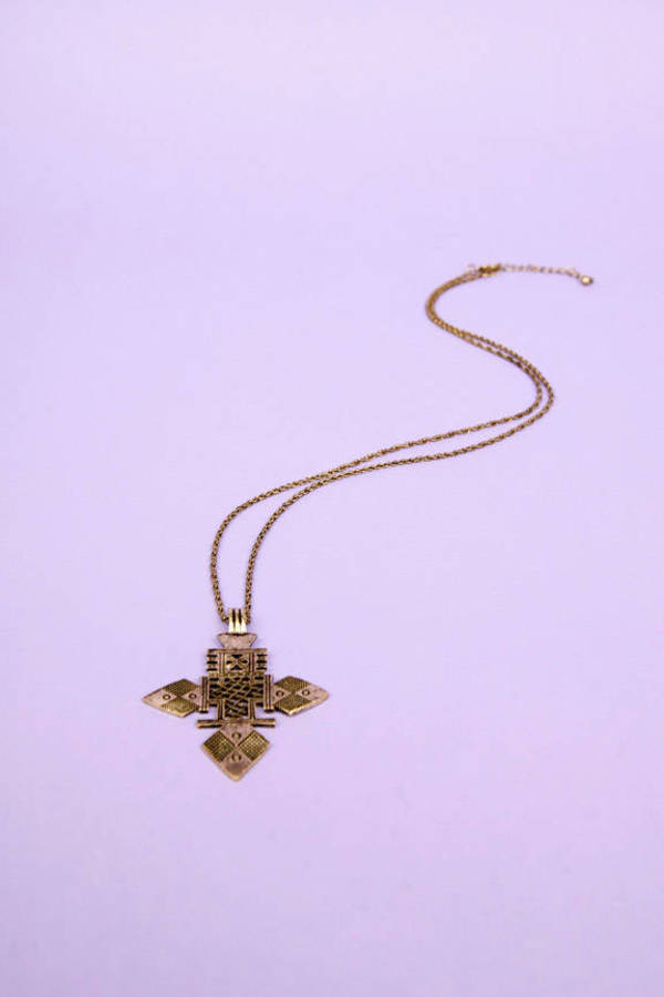 Tribe Cross Necklace