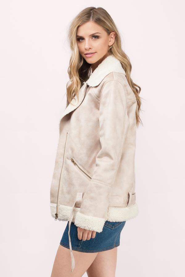 Trendy Beige Jacket - Long Sleeve Jacket - Beige & Ivory Jacket ...