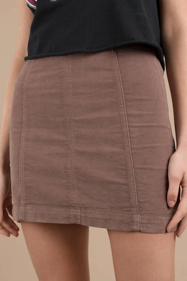 27d4e0c190 ... Free People Free People Mini Modern Femme Birchwood Corduroy Skirt ...