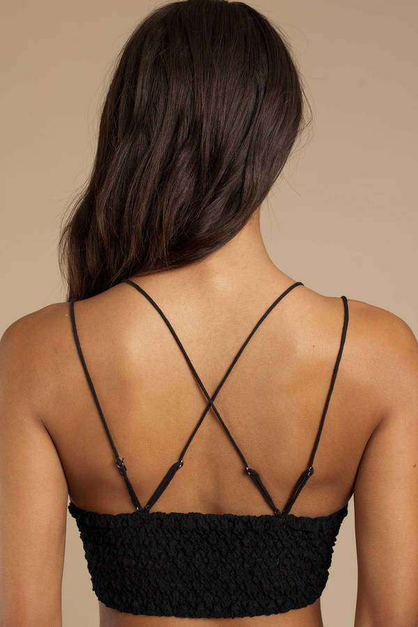 c5f94f7d72 Black Free People Bralette - Lace Bralette - Black Sexy Bralette ...