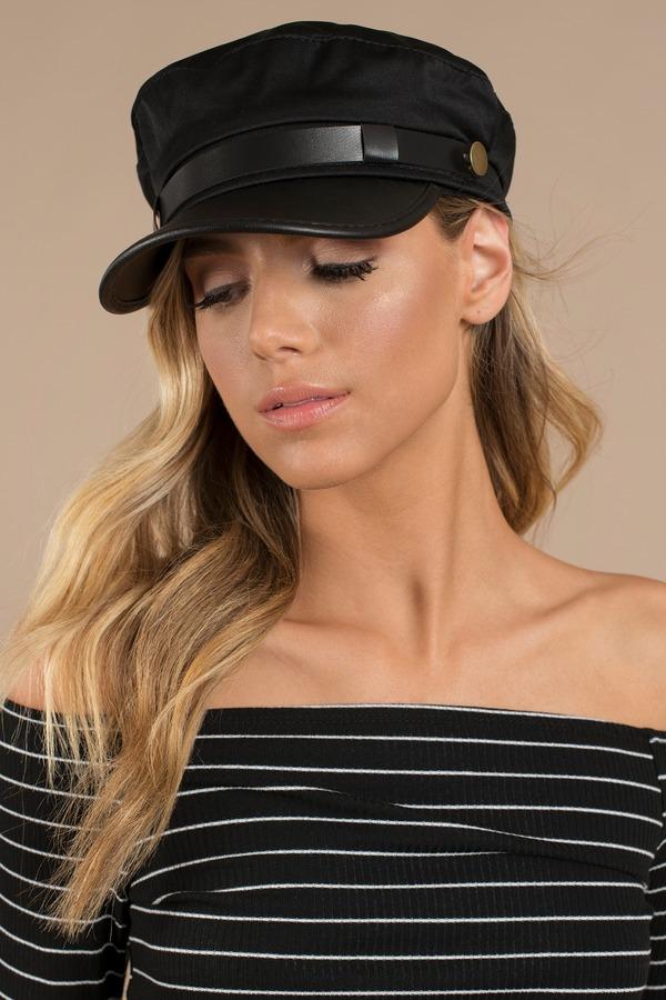 Black Hat - Military Style Hat - Black Cadet Hat - Dressy Cap -  8 ... d71075bd9e4