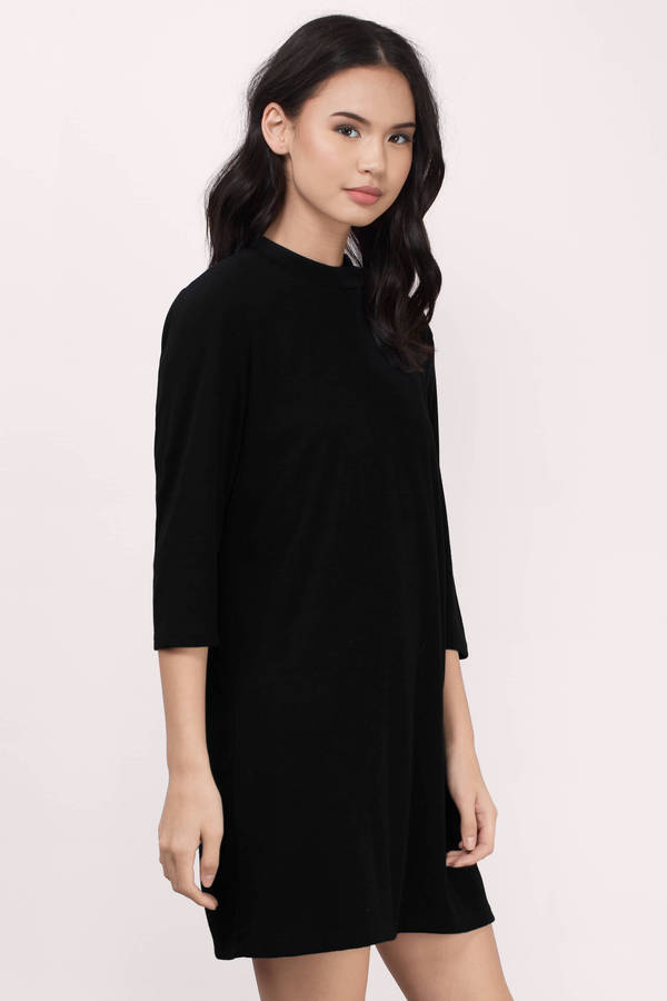 Black casual dress images