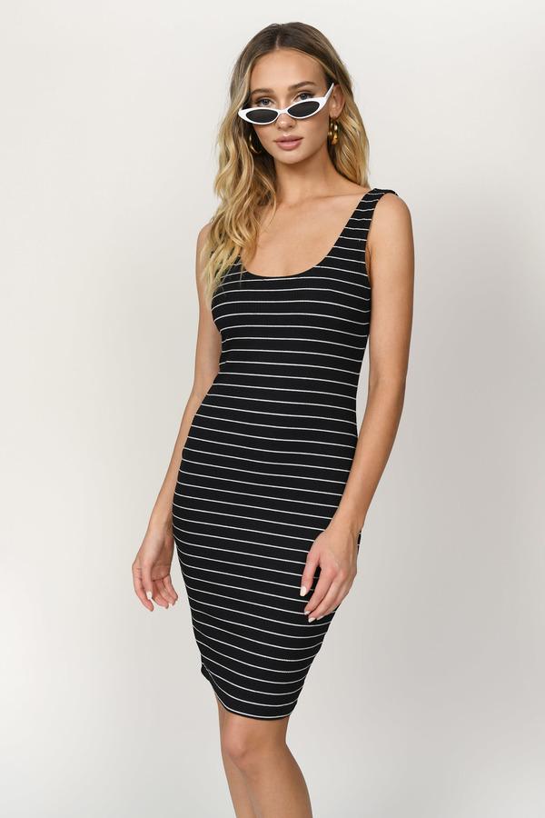 2a59af5c ... Tobi Midi Dresses, Black and White, Amy Ribbed Midi Dress, Tobi